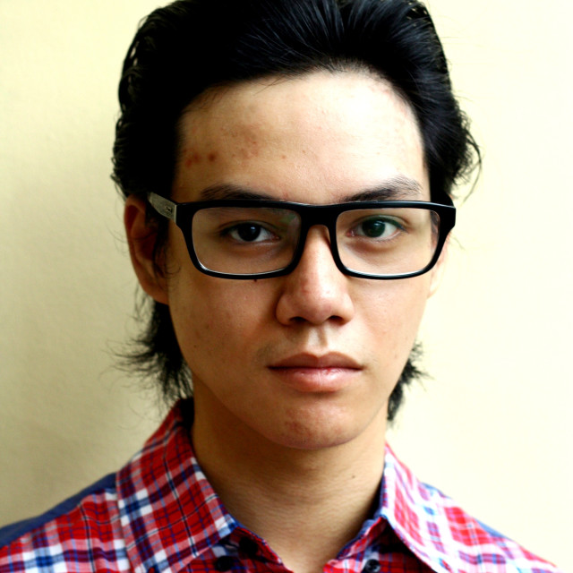 """""""Asian teen with eyeglasses"""" stock image"""