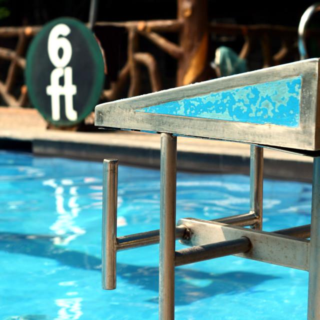 """Diving platforms at a swimming pool"" stock image"