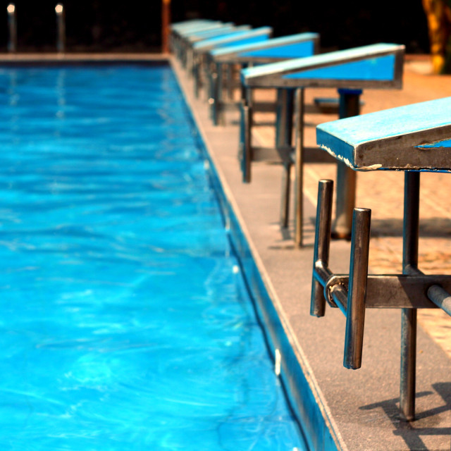 """Diving platforms at a swimming pool"" stock image"