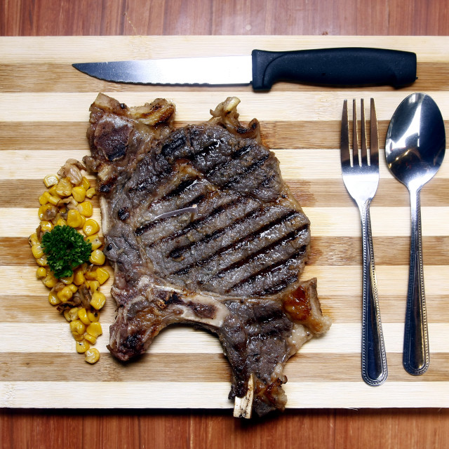"""Porter House Steak"" stock image"