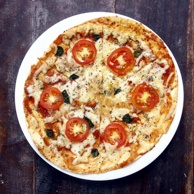 """Margherita Pizza"" stock image"