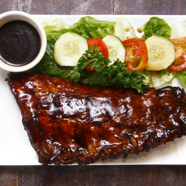 """Baby back ribs"" stock image"