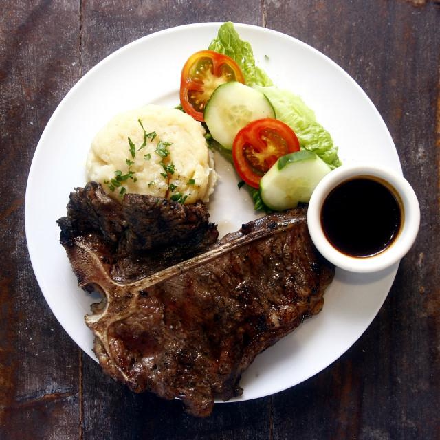 """""""Porter House Steak"""" stock image"""