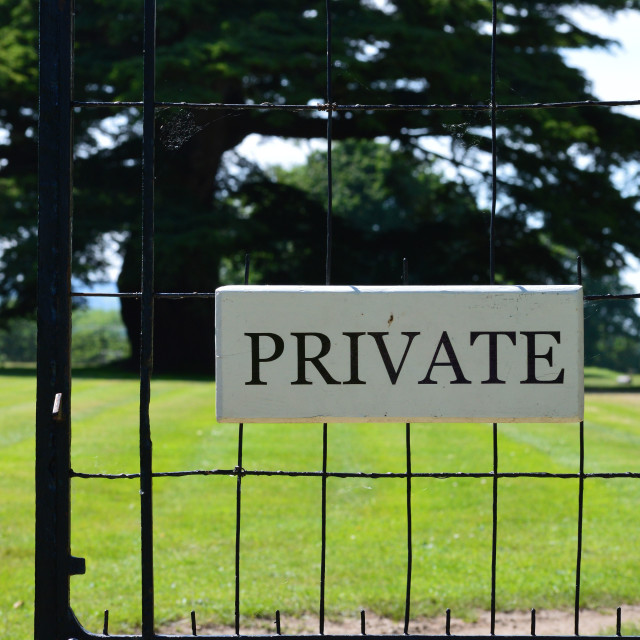 """Private sign."" stock image"