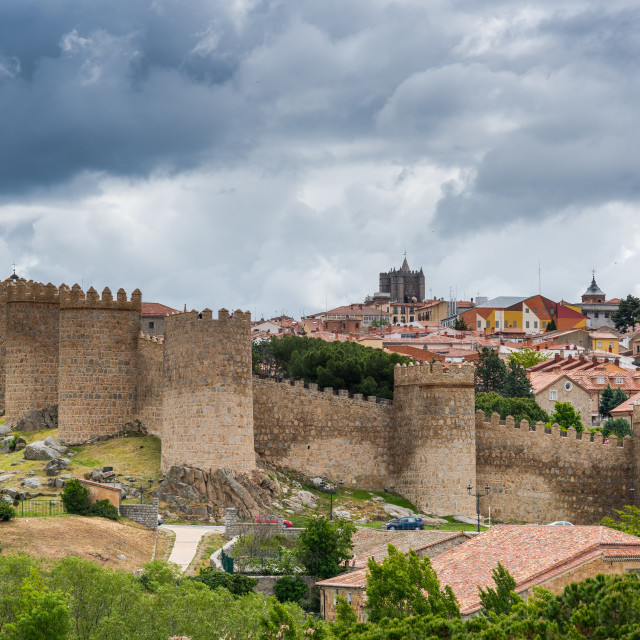 """Townscape of Avila in Castile Leone, Spain"" stock image"