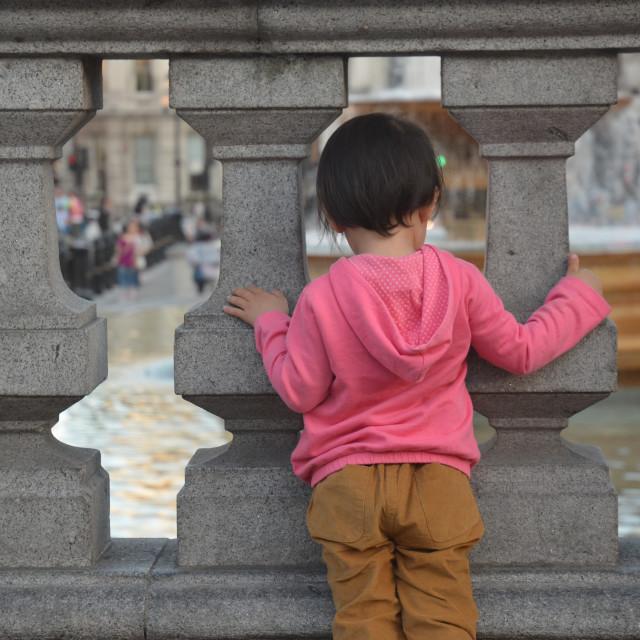 """tiny tourist"" stock image"