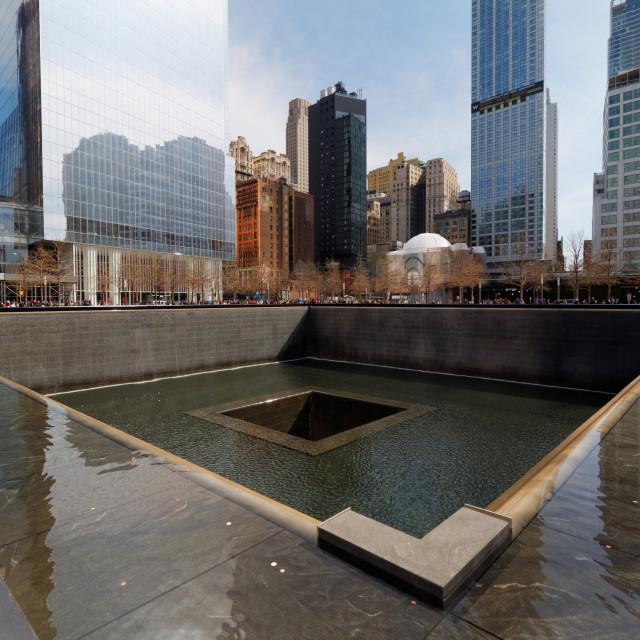 """National September 11 Memorial / World Trade Center Memorial in Manhattan, New York City, USA"" stock image"