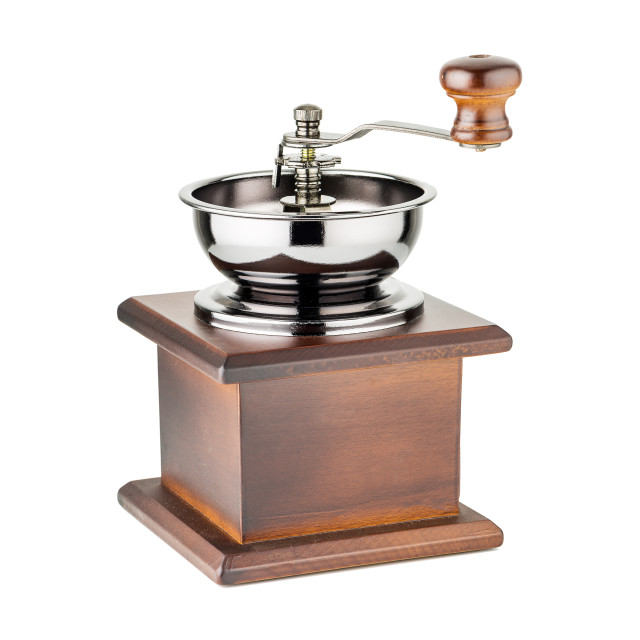 """Manual coffee grinder"" stock image"