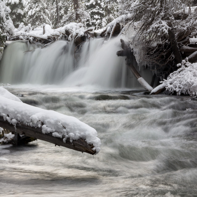 """""""Icy Waterfall"""" stock image"""