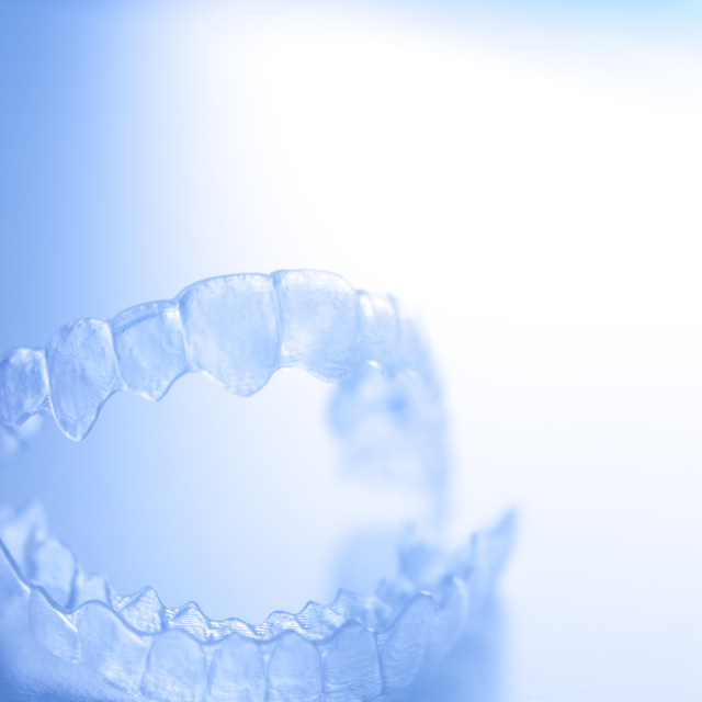"""Invisible dental aligner"" stock image"