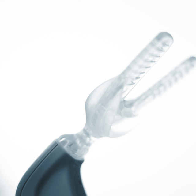 """Teeth bracket orthodontic vibrator"" stock image"