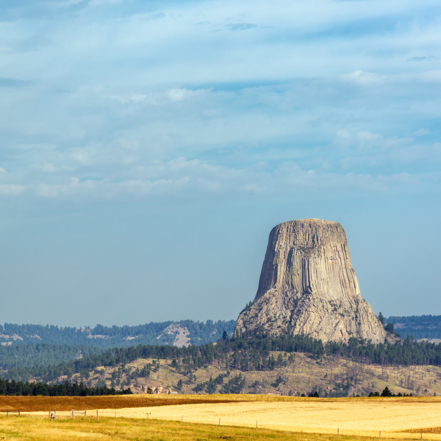 """Beautiful Devils Tower"" stock image"