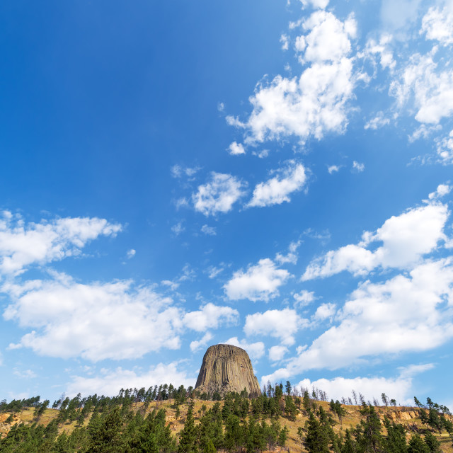 """Devils Tower and Sky"" stock image"