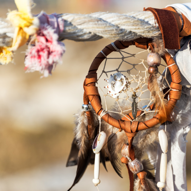 """Dreamcatcher at Medicine Wheel"" stock image"