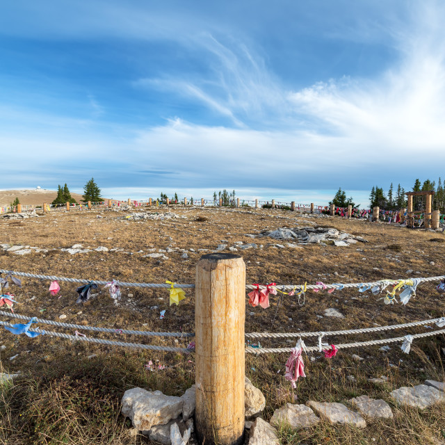 """Medicine Wheel Wide Angle View"" stock image"