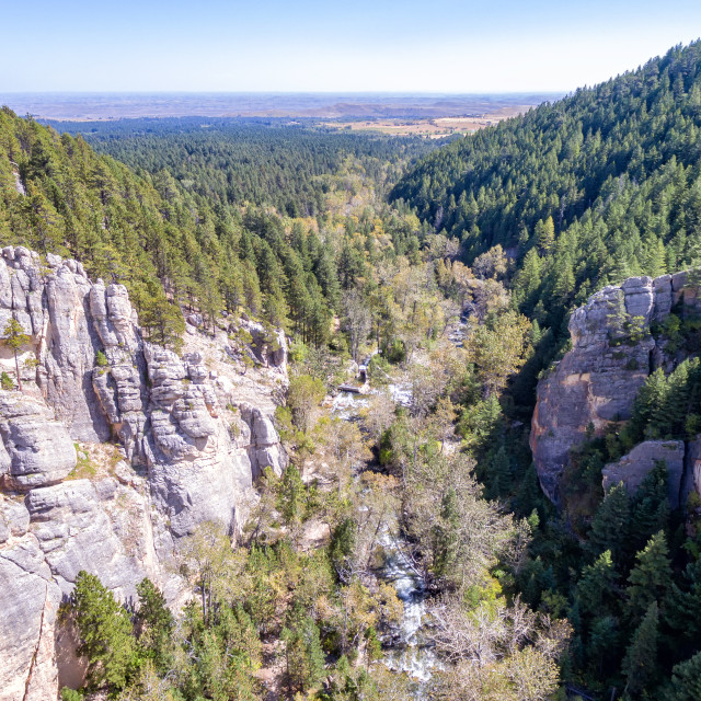 """South Piney Canyon Aerial"" stock image"
