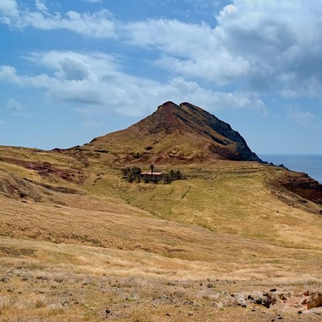 """East coast of Madeira island, Ponta de Sao Loure"" stock image"