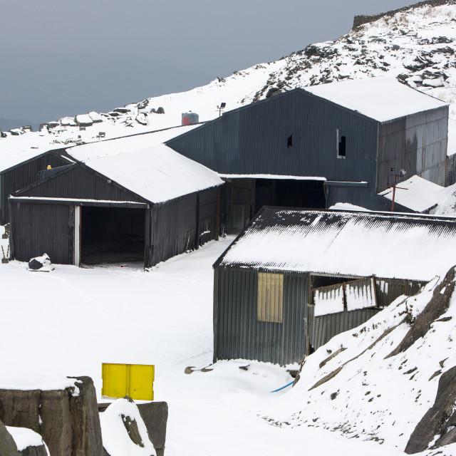 """""""The closed Kirkstone slate quarry, Lake District, UK,"""" stock image"""