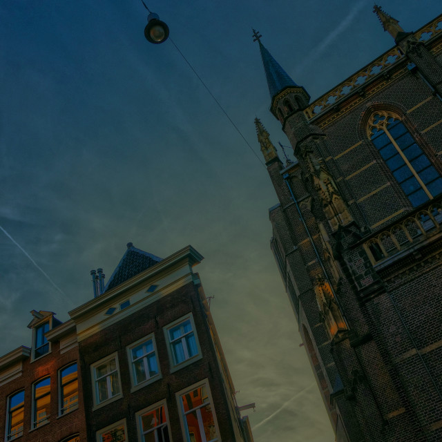 """Amsterdam at night"" stock image"