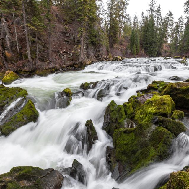 """""""Benham Falls Waterfall"""" stock image"""