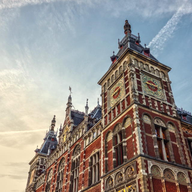 """""""Amsterdam Central Station"""" stock image"""