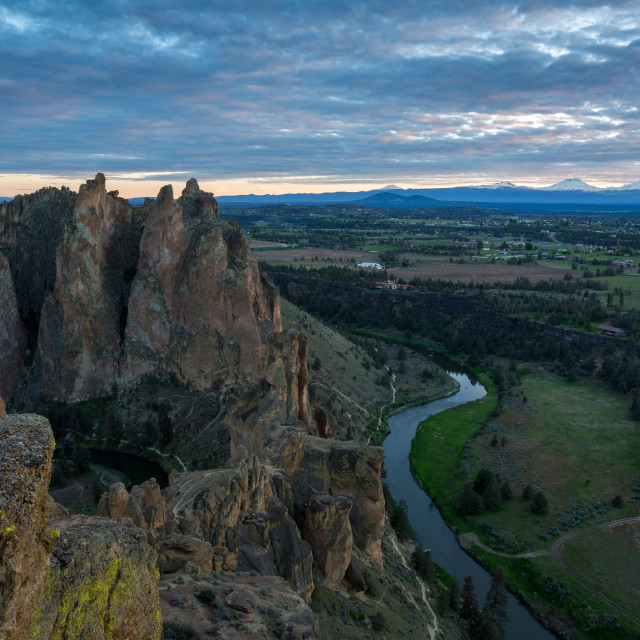"""Smith Rock Sunset"" stock image"