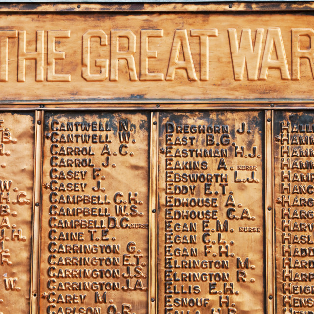 """""""A war memorial to soldiers killed in the Great War in Echuca, Victoria,..."""" stock image"""