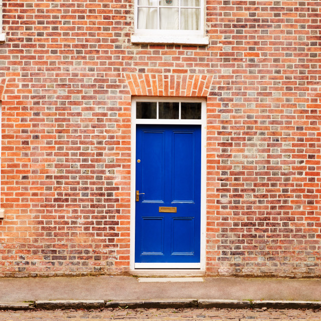 """""""OXFORD/ UK- OCTOBER 26 2016: Exterior Of Victorian Terraced Houses In Oxford"""" stock image"""