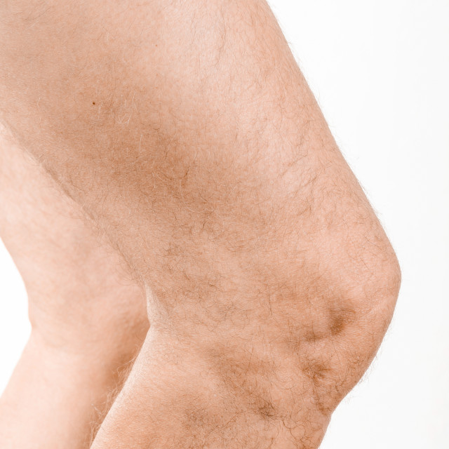 """Man's knee"" stock image"