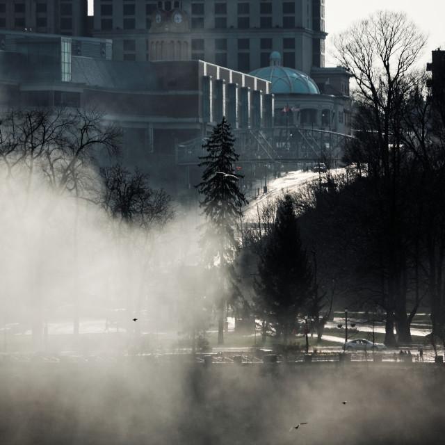 """""""Heavy Spray at Niagara Falls"""" stock image"""