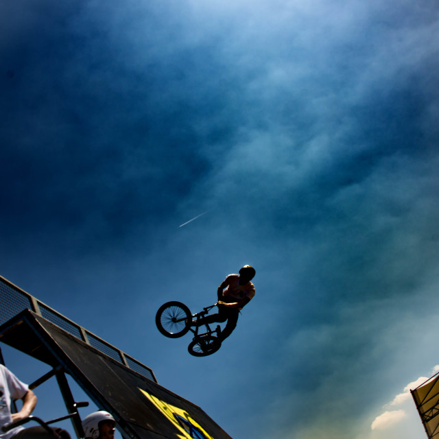 """""""BMX Pro Freestyle"""" stock image"""