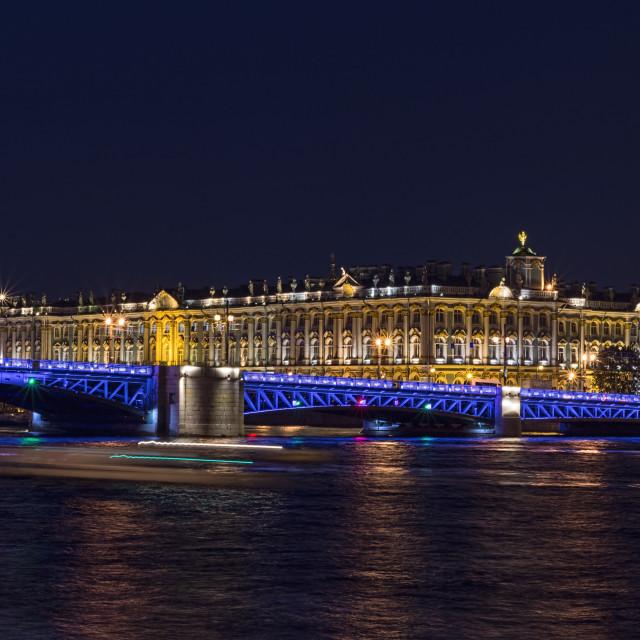 """Boats on the Neva, St Petersburg"" stock image"
