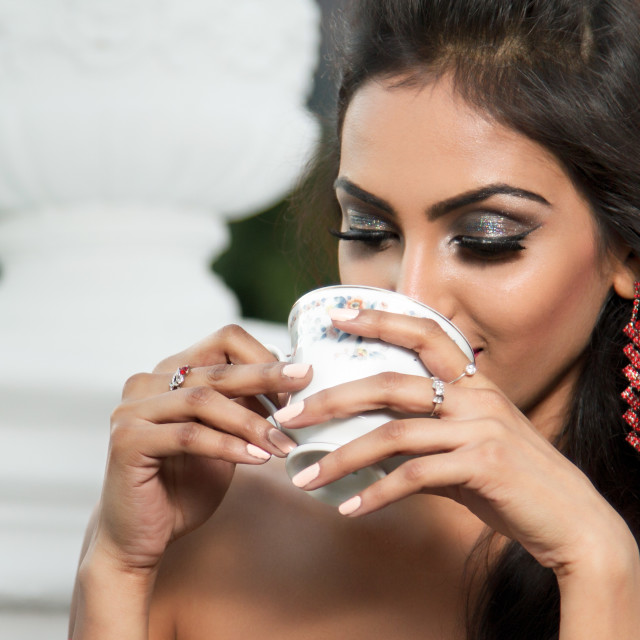 """""""Smelling the coffee"""" stock image"""