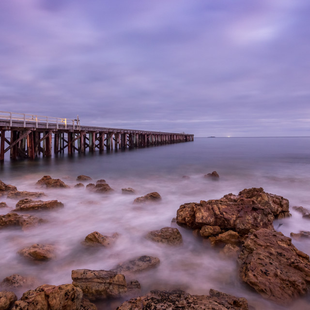 """Narracoopa Jetty, King Island, Tasmania"" stock image"