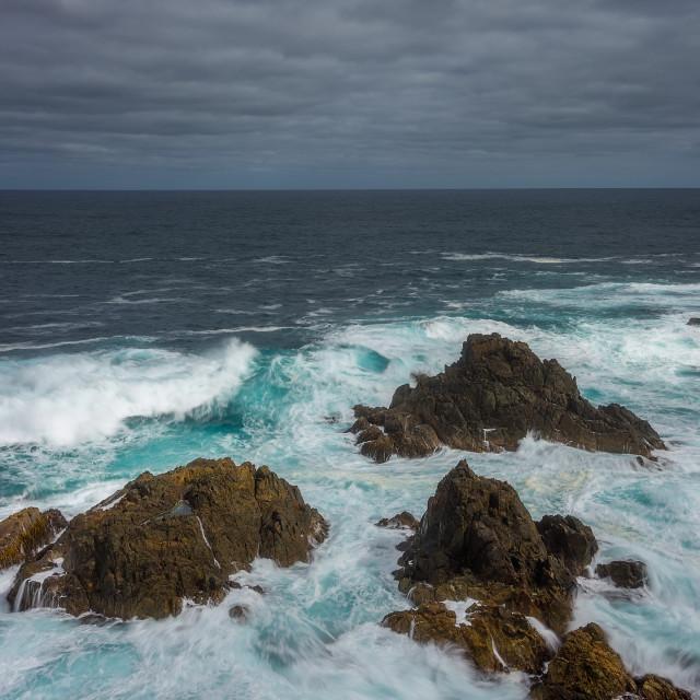 """Seal Rocks swell"" stock image"