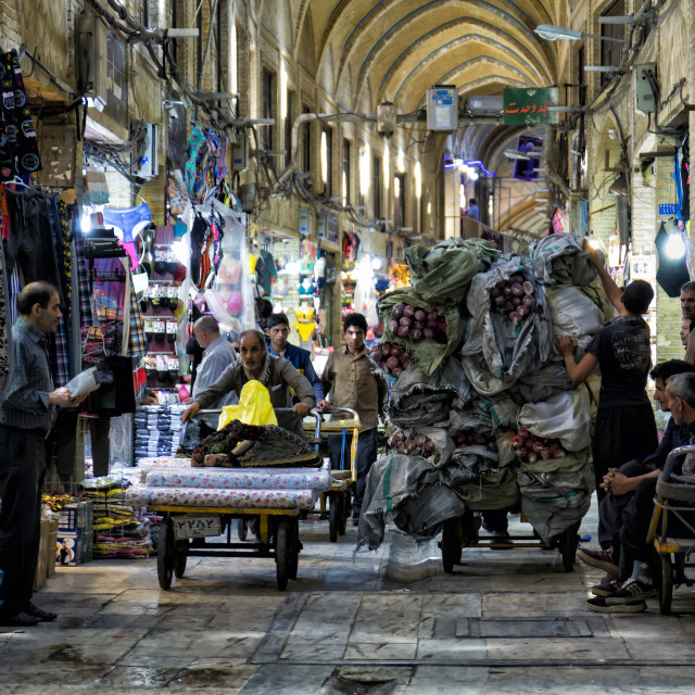"""TEHRAN BAZAAR"" stock image"
