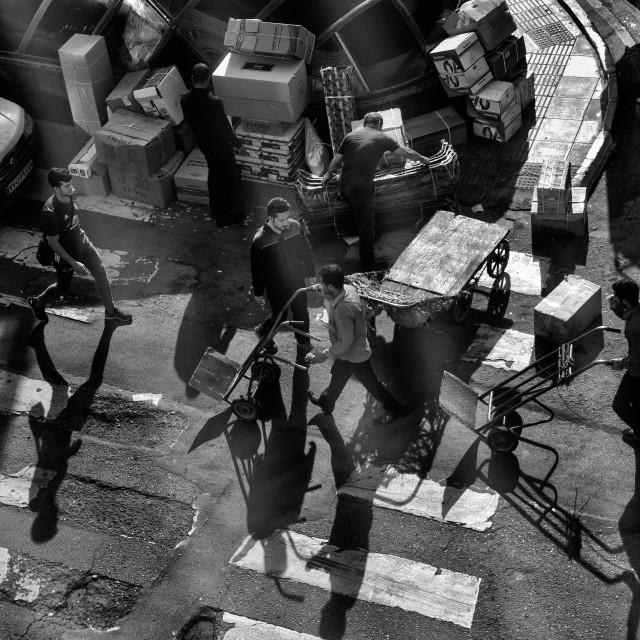 """TEHRAN STREET LIFE"" stock image"