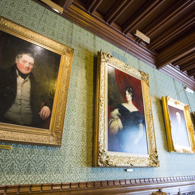 """Portraits at Cragside, Rothbury, Northumberland, the home of Lord Armstrong,..."" stock image"