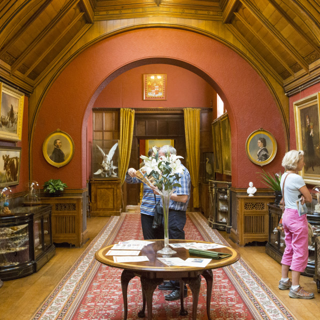 """Cragside, Rothbury, Northumberland, the home of Lord Armstrong, a Victorian..."" stock image"