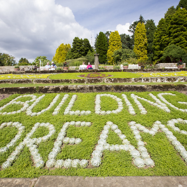 """The gardens at Cragside, Rothbury, Northumberland, the home of Lord..."" stock image"