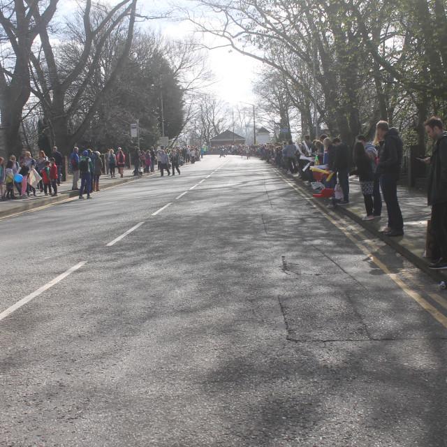 """Spectators At A Marathon"" stock image"