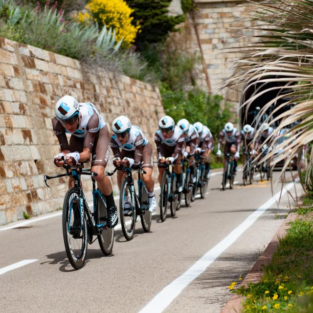 """Team time Trial Giro D'Italia"" stock image"
