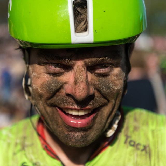 """Finisher Paris Roubaix"" stock image"