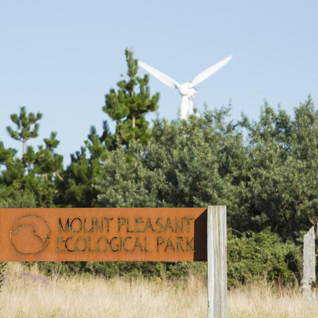 """Mount Pleasant Ecological Park, Porthtowan, Cornwall, UK."" stock image"