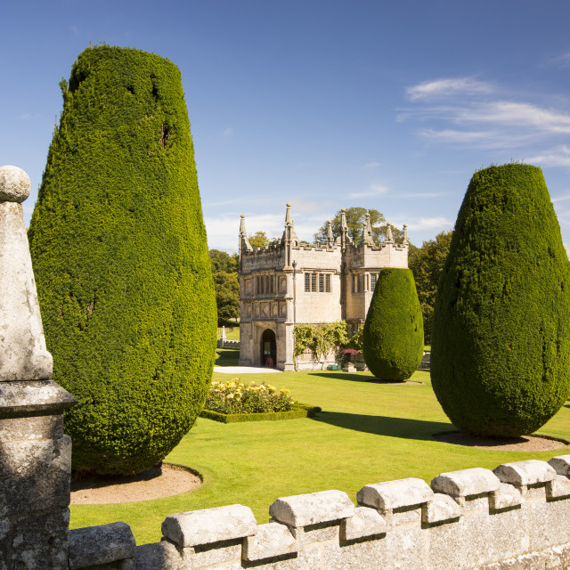 """Lanhydrock a country residence dating from the 1600's in Cornwall, UK."" stock image"