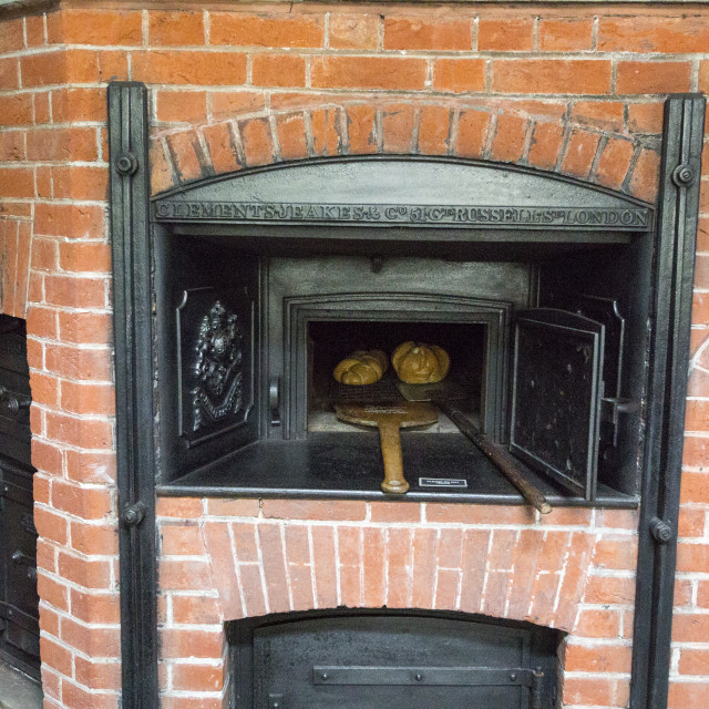 """A Victorian bread oven in the kitchen at Lanhydrock a country residence..."" stock image"