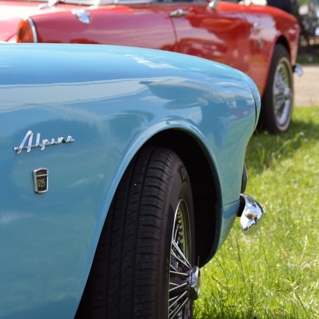 """Sunbeam Alpine sports cars."" stock image"