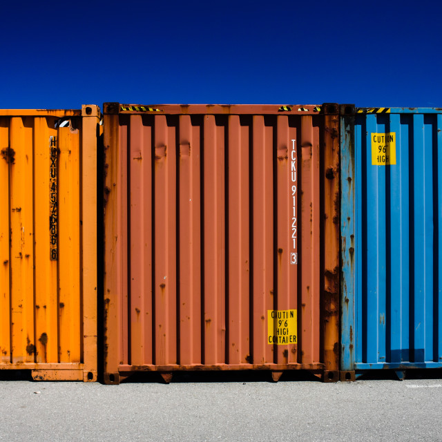 """Freight Containers"" stock image"