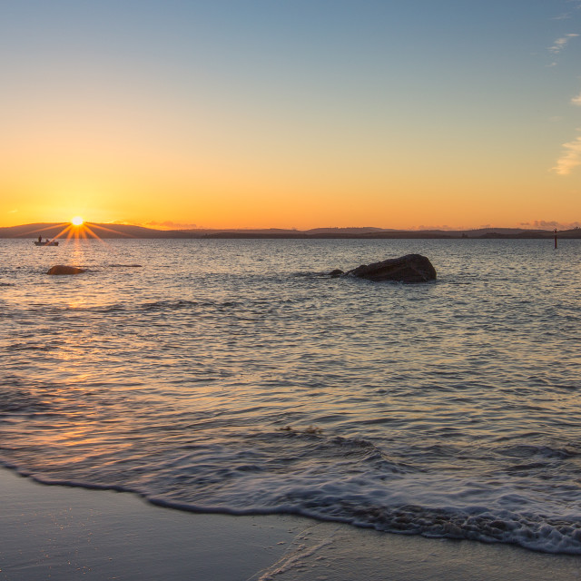"""Sunrise at Taroona"" stock image"
