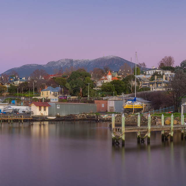 """Winter morning, Battery Point"" stock image"